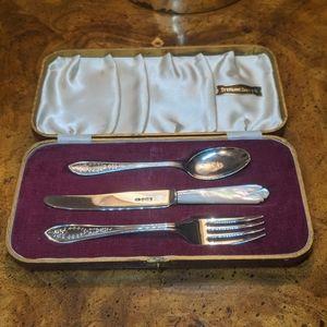 Beautiful antique sterling silverware set